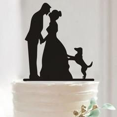 Classic Couple Acrylic Cake Topper (Set of 2)