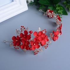 Erstaunlich Strass/Legierung/Nachahmungen von Perlen Blumen und Federn/Stirnbänder