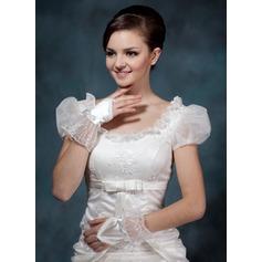 Satén Muñeca Largo Guantes de novia/Guantes de niña de flores