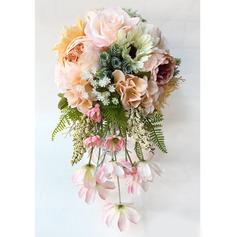 Gorgeous Kaskade Silke Blomst Brude Buketter (Sælges i et enkelt stykke) -