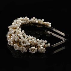 La perla de faux Tiaras con Perla Veneciano (Se venden en una sola pieza)