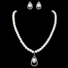 Elegant Legering/Perle med Rhinestone Kvinner Smykker Sett