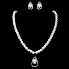 Elegant Alloy/Pearl With Rhinestone Women's Jewelry Sets