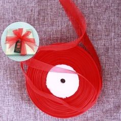 Width 1.5cm Length 91m - Red Organza Ribbon Packaging Materials