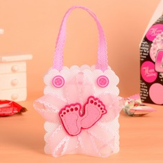 Feet Cut-out Handbag shaped Favor Bags With Bow