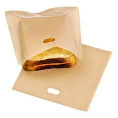 Modern Classic Non Stick Reusable Toaster Bags for Sandwich and Grilling (Set of 6) Non-personalized Gifts