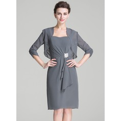 3/4-Length Sleeve Chiffon Special Occasion Wrap (013080408)