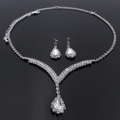 Romantic Alloy/Rhinestones Women's/Ladies' Jewelry Sets