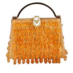 Gorgeous Satäng med Akryljuveler mode handväskor