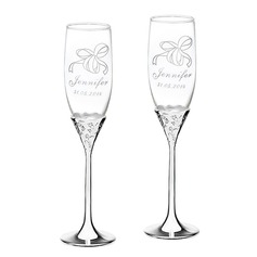 Personlig Elegant Glas Rostning Flöjter (Set av 2)