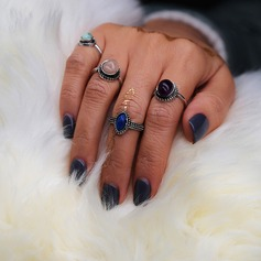 Mode Legering Resin Damer' Mode Ringar (Sats om 4)