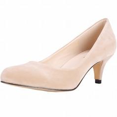 Frauen Veloursleder Kegel Absatz Absatzschuhe Geschlossene Zehe Schuhe