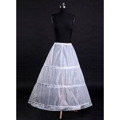 Women Tulle Netting/Satin Tea-length 1 Tier  Bustle (037117074)