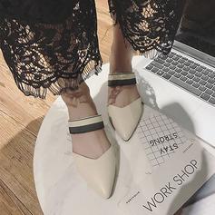 Женщины PU Плоский каблук На плокой подошве обувь