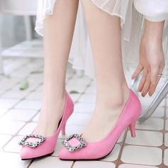 De mujer Ante Tacón stilettos Salón Cerrados con Rhinestone zapatos