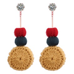 Exquisite Liga Cotton Cordas Mulheres Moda Brincos (Conjunto de 2)