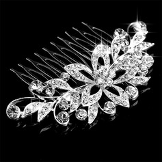 Ladies Magnificent Alloy Combs & Barrettes With Rhinestone (Sold in single piece) (042168918)