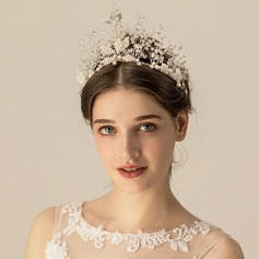 Ladies Beautiful Imitation Pearls Tiaras With Venetian Pearl (Sold in single piece)