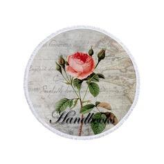 Blommig överdimensionerad/rund handduk