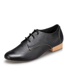 Mannen Kunstleer Flats Latijn Ballroom Oefening Character Shoes met Vastrijgen Dansschoenen