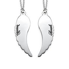 Parit' Kuumin 925 sterlinghopea hopea Kaiverretut kaulakorut Kaulakorut Ystävät/Morsiusneito/Kukkastyttö