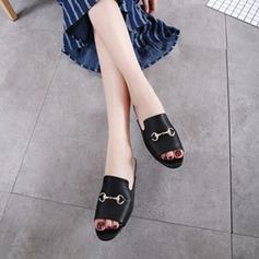 Kvinnor Konstläder Flat Heel Platta Skor / Fritidsskor Tofflor med Spänne skor