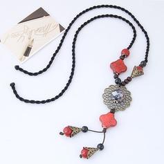 Vackra Och Legering Keramik Flätade Rep Kvinnor Mode Halsband (Säljs i ett enda stycke)