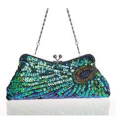 Elegant Paljetter/Beading Grepp/Handledsväskor/Totes väskor/Mode handväskor/Makeup Väskor/Lyx Bag