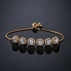 Dames Beau Cuivre/Zircon de Bracelets elle/Amis/la mariée
