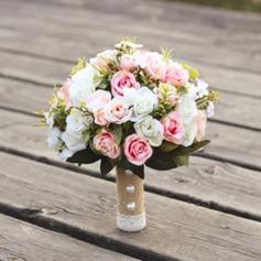 Käsin Sidottu Satiini Morsiamen kukkakimppuihin/Morsiusneito Kukkakimppuihin -