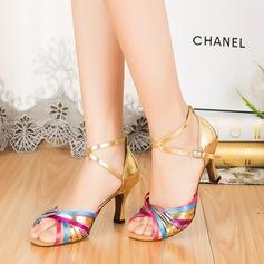 Femmes Similicuir Talons Sandales Latin avec Lanière de cheville Chaussures de danse (053067464)