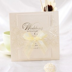 Klasik Stil Wrap & Cep Invitation Cards Ile Saten Kurdele (114032369)