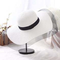 Dames Beau Rotin paille Disquettes Chapeau/Chapeaux de plage / soleil