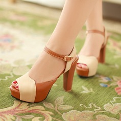 Women's Suede Stiletto Heel Sandals Platform Peep Toe Slingbacks shoes