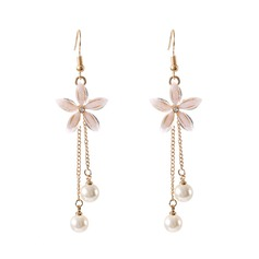 Chic Alloy Imitation Pearls Women's Fashion Earrings (137192291)