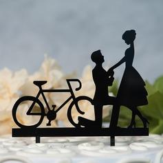 Mr & Mrs Akryl Kake Topper