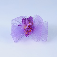 Handmade Artificial Silk/Net Yarn Flowers & Feathers
