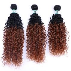 Kinky Curly cheveux synthétiques Tissage en cheveux humains (Vendu en une seule pièce) 70g
