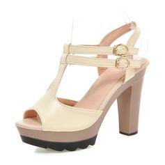 Donna Similpelle Tacco a spillo Sandalo Stiletto Piattaforma Punta aperta Con cinturino con Fibbia scarpe