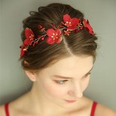 Damer Gorgeous Siden blomma Pannband med Venetianska Pärla/Kristall (Säljs i ett enda stycke)