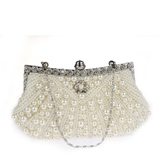 Elegant Satin/Pearl Clutches/Wristlets/Bridal Purse/Evening Bags (012141814)
