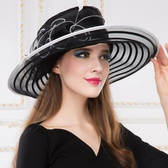 Ladies' Glamourous/Exquisite Organza With Feather Beanie/Slouchy/Kentucky Derby Hats