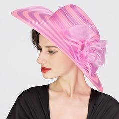 Señoras' Llamativo Organdí Bombín / cloché Sombrero/Derby Kentucky Sombreros/Sombreros Tea Party