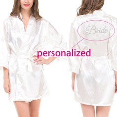 Personalized Polyester Bride Robe (20 letters or less,numbers and special symbols are not allowed)
