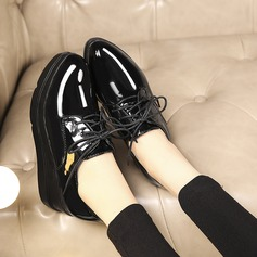 Women's Patent Leather Wedge Heel Platform Wedges With Others shoes