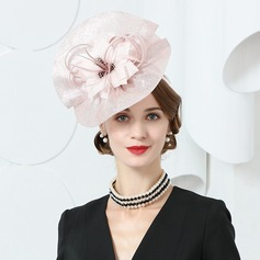 Ladies' Fashion/Special/Glamourous/Elegant/Unique/Eye-catching/Fancy/High Quality Cambric With Feather Beret Hat