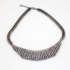 Chic Alloy With Rhinestone Ladies' Necklaces