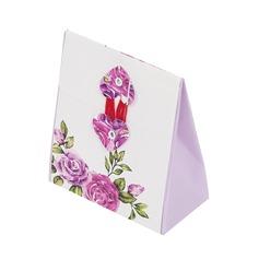 Disegno del fiore Cuboide Scatole di Favore (set di 12)