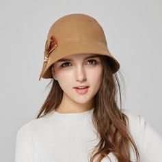 Damene ' Elegant Ull med Bowknot Bucket Hat