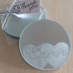 Round/Animal Shaped Resin/Glass Place Card Holders (Set of 2)